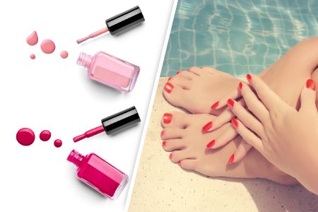 Pose de vernis semi-permanent French mains ou pieds