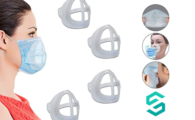 Pack de 5 Supports de Masque 3D en Silicone